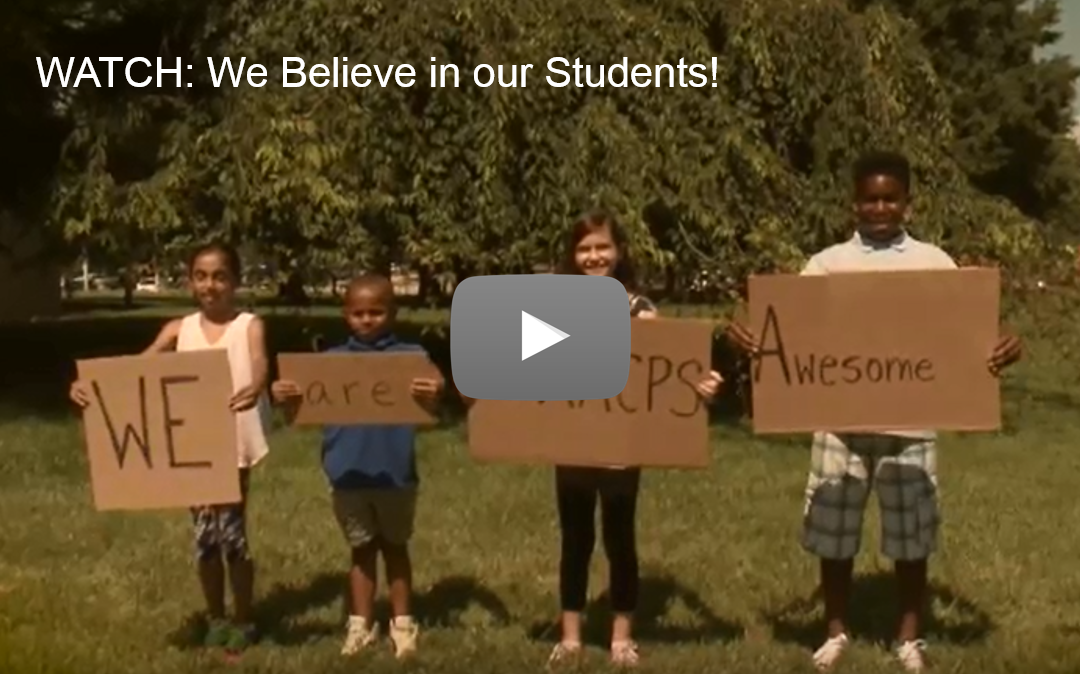 Watch: We Believe in Our Students video