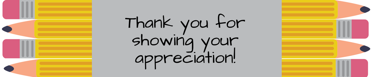Thank you for showing your appreciation!