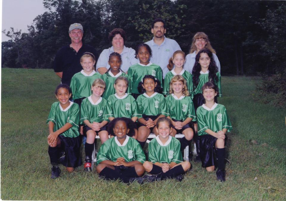 Ashley Kayson on her elementary school soccer team.