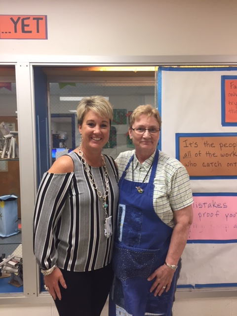 Jennifer Sturgell with Mrs. Sheckells