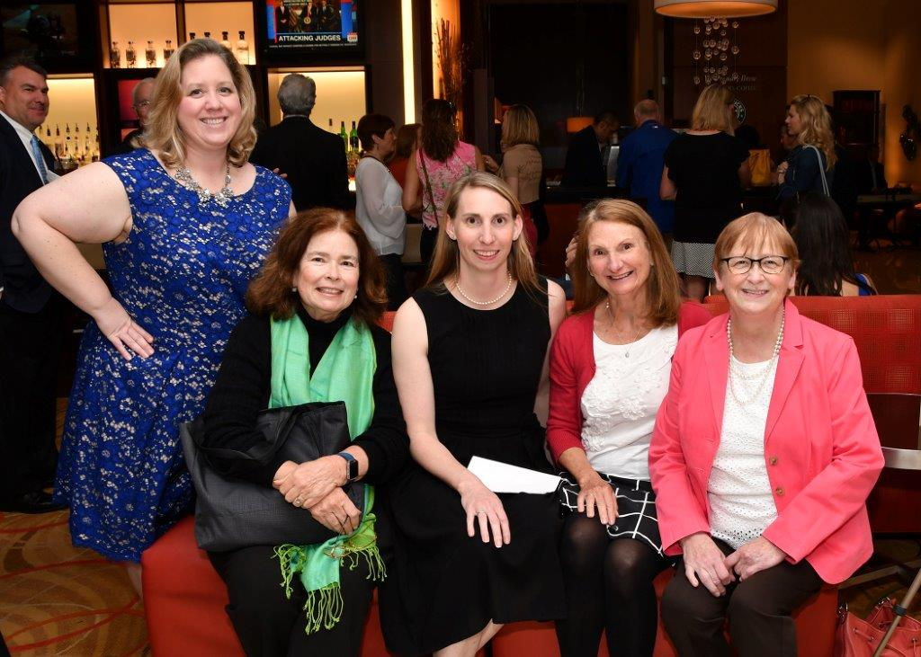 Tori Peddicord surrounded by friends and family at the Teacher of the Year Banquet